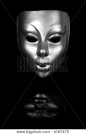 Silber Gesichtsmaske