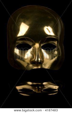 Golden Half Face Mask