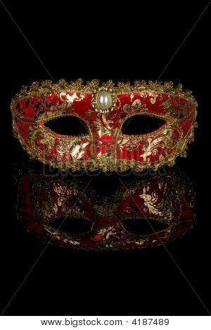 Máscara de Carnaval Veneciano rojo