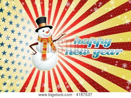 Snowman Usa.Eps