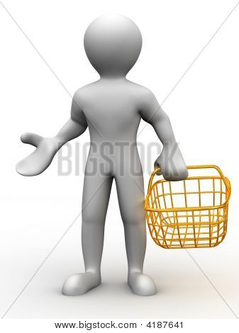 Man With Consumer Basket