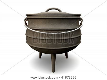 South African Potjie Pot Front