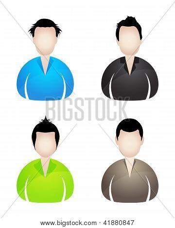 Four Businessman Icons