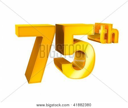 Gold Alphabet Anniversary 75