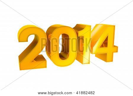 Gold Alphabet Number Character 2014