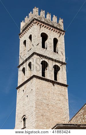 The tower of the Temple of Minerva in Assisi