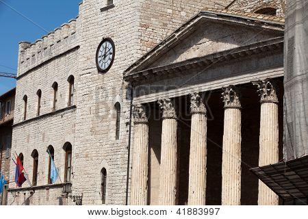 Assisi - the temple of Minerva converted in Santa Maria sopra Minerva Church