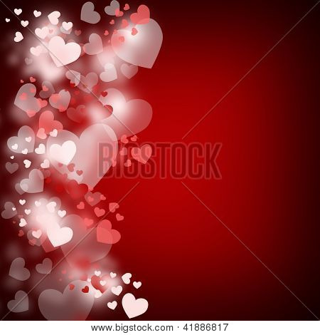 Heart border background with copyspace