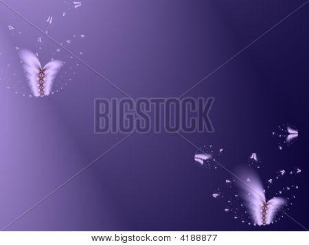 Butterflies Background In Midnight Blue