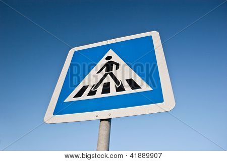 German cross walk sign