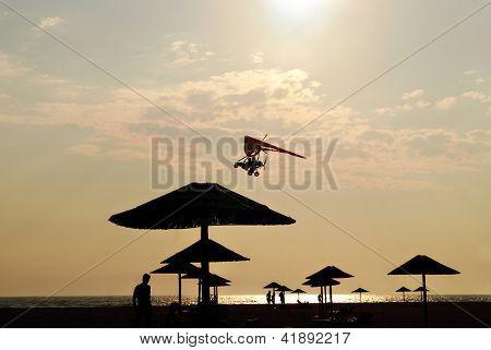 Beach at Ada Bojana at dusk