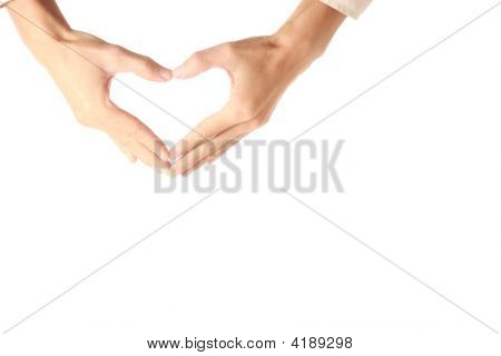 Heart Shape Made Of Two Hands