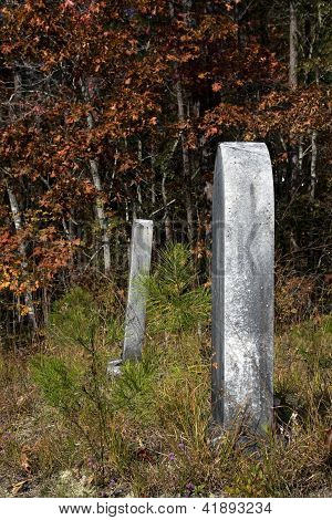 Tombstones In Line