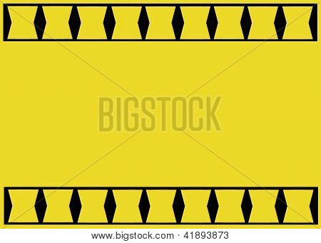 Yellow And Black Business Card