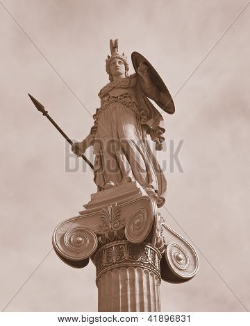 Athena the godess of philosophy and wisdom