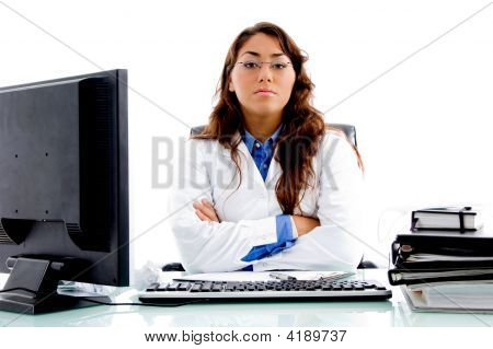 Medical Professional Posing In Clinic
