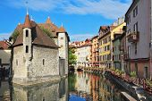 The picturesque medieval prison in the old French resort town of Annecy. Today it is a museum. The b