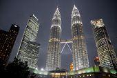 picture of petronas twin towers  - KUALA LUMPUR  - JPG