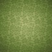 Vintage background. Floral pattern. Flower green Wallpaper.