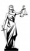 image of judiciary  - isolated White lady justice  - JPG
