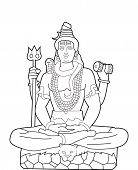 image of shiva  - God Shiva editable  - JPG