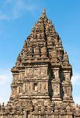image of brahma  - Brahma temple top in Candi Prambanan or Candi Rara Jonggrang Hindu temple Java Indonesia - JPG
