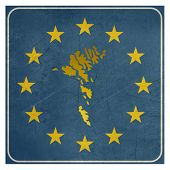 Faroe Islands European sign isolated on white background with copy space.