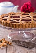 picture of tort  - Vertical image with a Fruit Jam Tart  - JPG