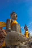 foto of scruple  - Stone Ancient Buddha statue of Thailand Temple - JPG