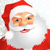 stock photo of santa claus hat  - A fully scalable vector illustration of Santa Claus with snow - JPG