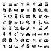 stock photo of televisor  - 64 Electronic Devices Icons Set for web and mobile - JPG