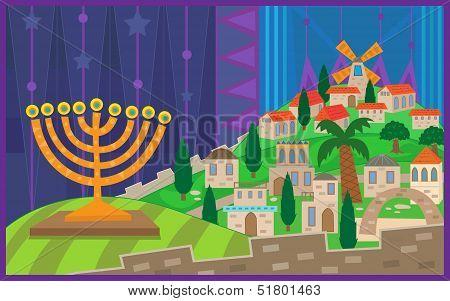 Hanukkah Night in Jerusalem