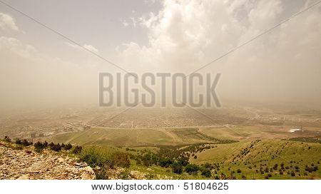 Iraqi Mountains In Autonomous Kurdistan Region Near Iran