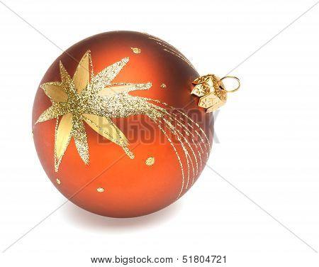 Orange Christmas Ball