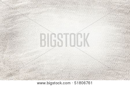 White and light gray texture of gauze background with clear space for your own text