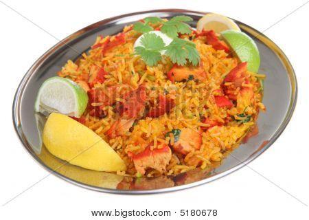 Indian Chicken Tikka Biriani Curry