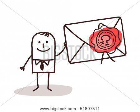 Businessman Holding a Sealed Envelope