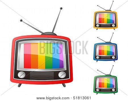 Color Retro Tv,vector