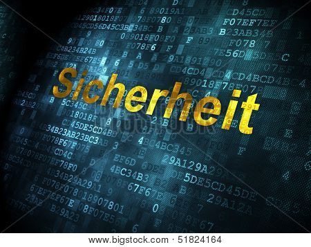 Security concept: Sicherheit(german) on digital background