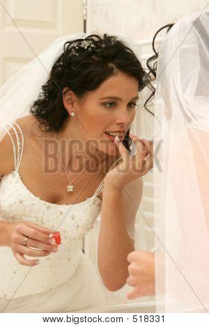 Wedding Bride Doing Makeup