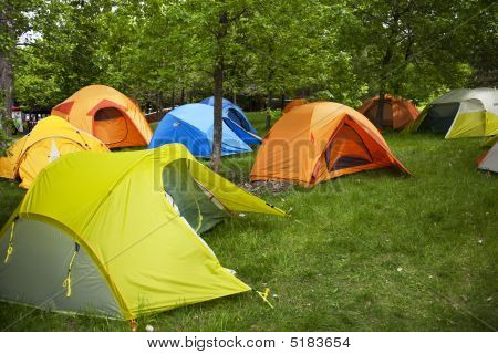 Camping Sites With Tents