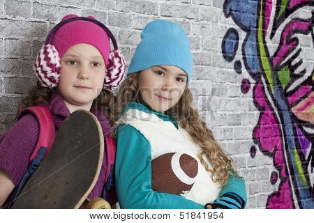 Portrait Of Teenage Girls