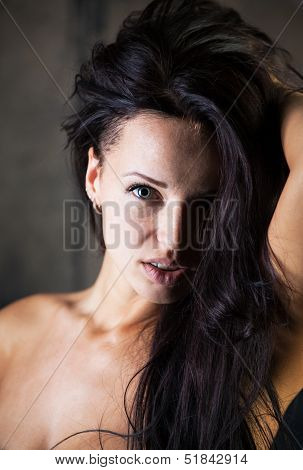 Girl With Amazing Eyes And Hair