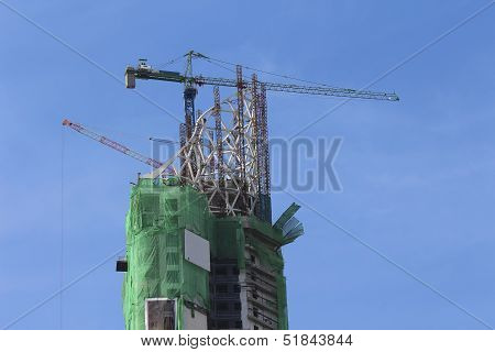 Building Construction With Sky