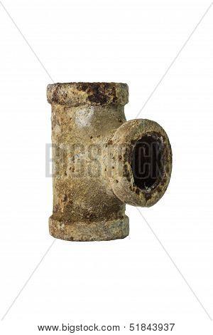 old drainpipe three way