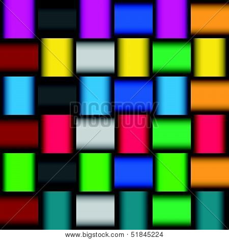 Glossy color mosaic pattern