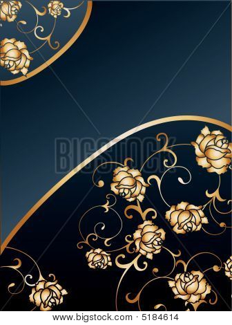 gold Rose Background