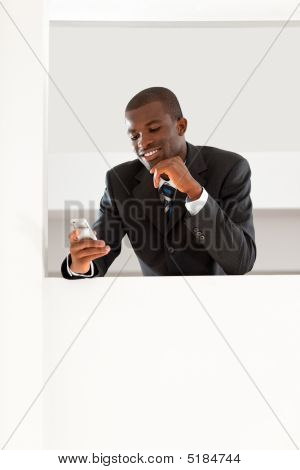 Businessman Reading Emails