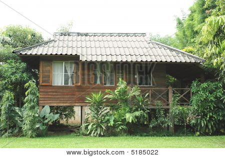 Wood Front Garden House