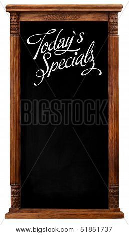 Wooden Picture Frame Chalkboard Blackboard Used As Today`s Specials